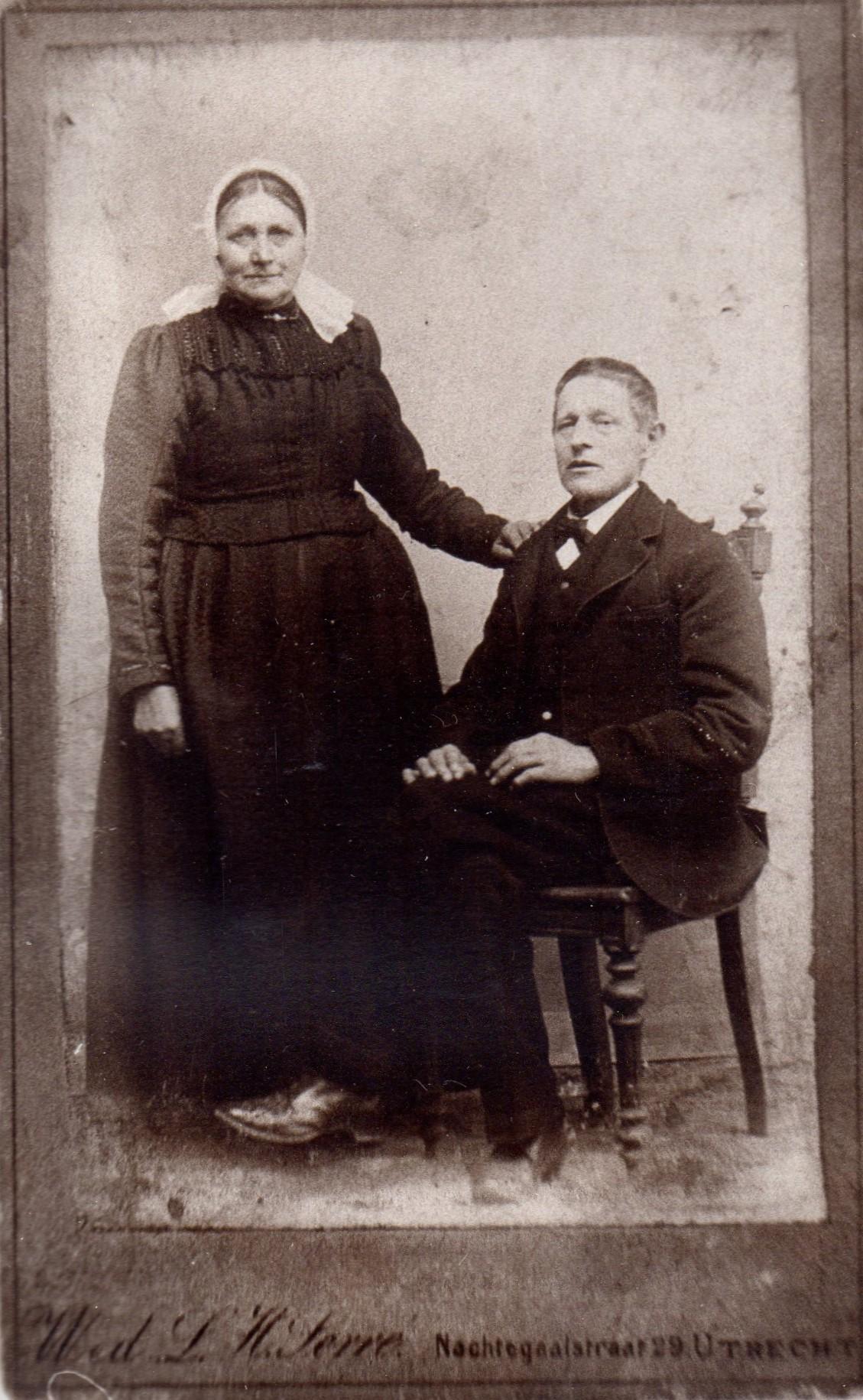 Pieternella Coppier (1837-1923), Bernardus Kool (1834-1907)