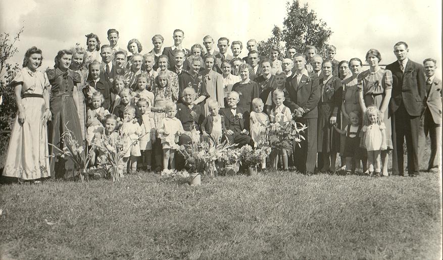 Gijsbert Kuus en Geertruida Kool - 50 jarig huwelijk (1945)