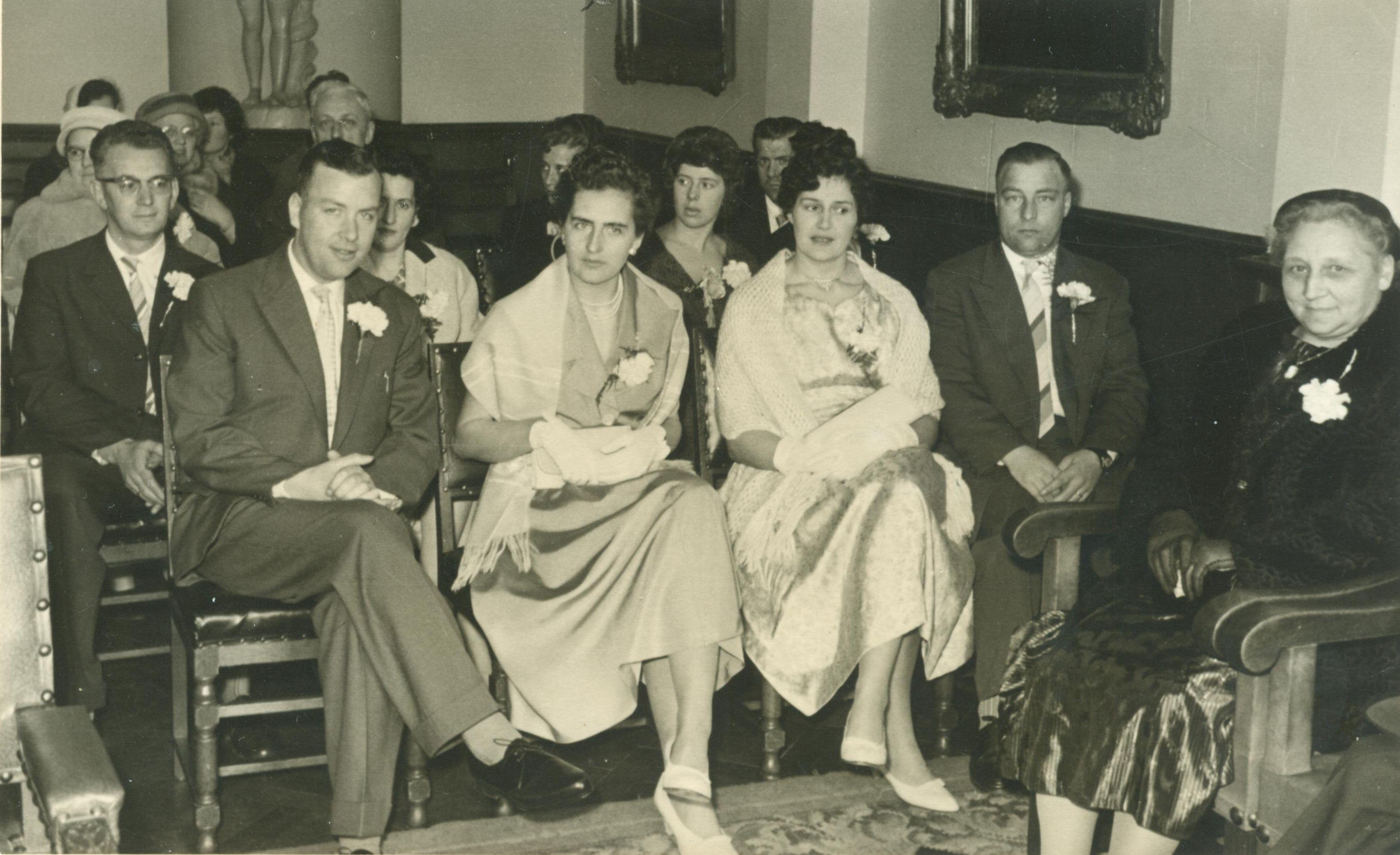 Johannes Pieter Brouwer (1929-2012), Wilhelmina Gijsberta Gaasbeek (1929-2005), Catharina Joanna Maria van Geel (1937-1976), Marinus Maria Brouwer (1927-2017)