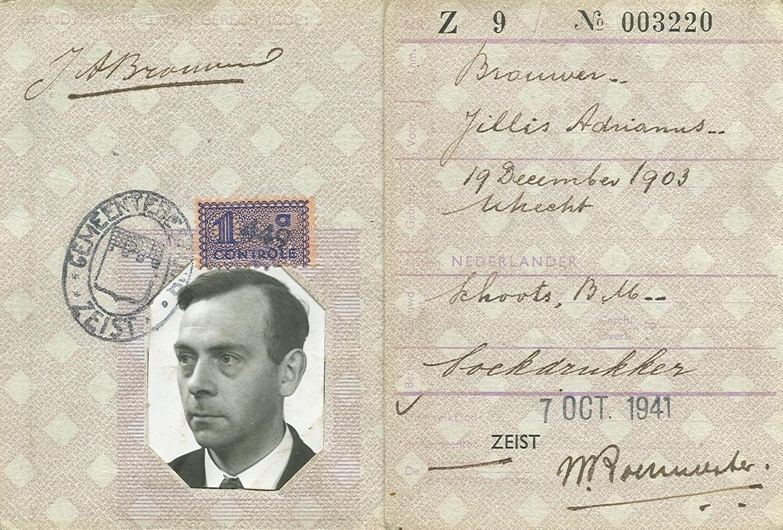 Persoonsbewijs Jillis Adrianus Brouwer (1903-1984)