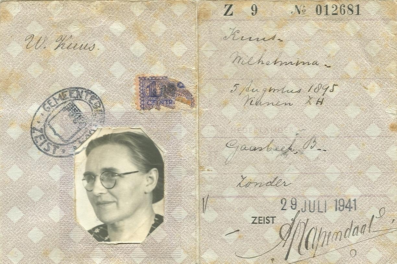 Persoonskaart Wilhelmina Kuus (1895-1979)